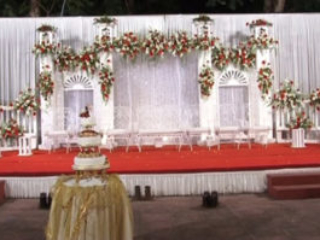 Beautiful, simple and classy Backdrop for a wedding